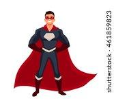 male superhero cartoon style... | Shutterstock .eps vector #461859823