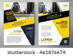 business brochure flyer design... | Shutterstock .eps vector #461876674
