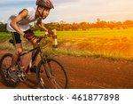 Asia Man Biking In Summer
