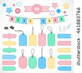 vector stickers  price tag ... | Shutterstock .eps vector #461883766