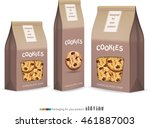 paper packaging for cookie... | Shutterstock .eps vector #461887003