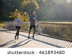 fitness  sport  people and... | Shutterstock . vector #461893480