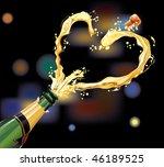 champagne exploding for... | Shutterstock .eps vector #46189525