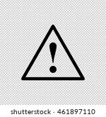 dangerous    black vector icon | Shutterstock .eps vector #461897110