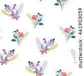 seamless pattern with the... | Shutterstock . vector #461903059