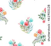 seamless pattern with the... | Shutterstock . vector #461903128