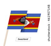 swaziland ribbon waving flag... | Shutterstock .eps vector #461907148