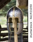 Stock photo a recreation of a highly decorated anglo saxon helmet 461921050