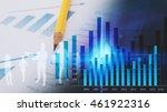business graph background.... | Shutterstock . vector #461922316