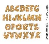 font  pastries   cookies  ... | Shutterstock .eps vector #461922388