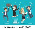office man and woman happy when ... | Shutterstock .eps vector #461922469