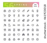 set of 56 spring line icons... | Shutterstock .eps vector #461923018