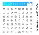 set of 56 education line icons...
