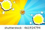 versus letters fight background.... | Shutterstock .eps vector #461924794
