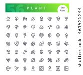 set of 56 plant  line icons... | Shutterstock .eps vector #461925244