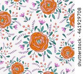 vector flower pattern. colorful ... | Shutterstock .eps vector #461929708