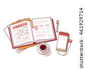 businessman morning day... | Shutterstock .eps vector #461929714