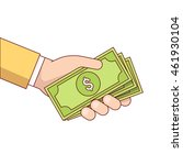 business man hand holding and... | Shutterstock .eps vector #461930104