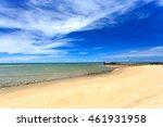sea beach with blue sky | Shutterstock . vector #461931958