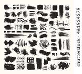 hand drawn vector brush strokes ... | Shutterstock .eps vector #461934379