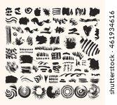 hand drawn vector brushes ... | Shutterstock .eps vector #461934616