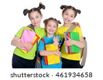 cute little girls with book  | Shutterstock . vector #461934658