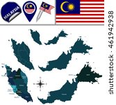 vector map of malaysia with... | Shutterstock .eps vector #461942938