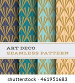 art deco seamless pattern with... | Shutterstock .eps vector #461951683