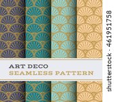 art deco seamless pattern with... | Shutterstock .eps vector #461951758