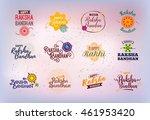 happy raksha bandhan. indian... | Shutterstock .eps vector #461953420