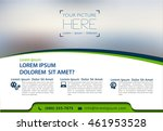 vector brochure  flyer ... | Shutterstock .eps vector #461953528