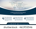 vector brochure  flyer ... | Shutterstock .eps vector #461953546