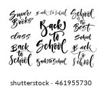 collection of  back to school... | Shutterstock .eps vector #461955730