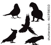 isolated silhouette of a parrot ... | Shutterstock .eps vector #461958010