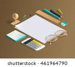 mockup scenes on education... | Shutterstock .eps vector #461964790