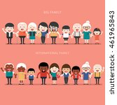 family concept. big happy... | Shutterstock .eps vector #461965843
