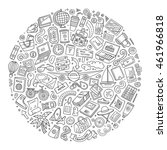 line art sketchy vector hand... | Shutterstock .eps vector #461966818