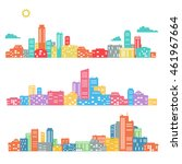 silhouettes of buildings. urban ... | Shutterstock .eps vector #461967664