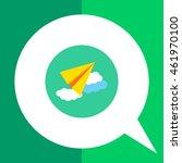 paper plane icon | Shutterstock .eps vector #461970100
