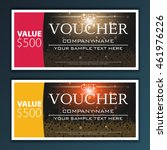 gift voucher template | Shutterstock .eps vector #461976226