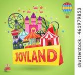 amusement park emblem with... | Shutterstock .eps vector #461979853