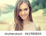 portrait of beautiful young... | Shutterstock . vector #461980834