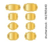 gold frames. beautiful simple... | Shutterstock .eps vector #461985640