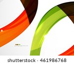 smooth wave line abstract... | Shutterstock . vector #461986768