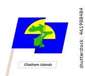 chatham islands ribbon waving... | Shutterstock .eps vector #461988484