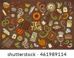 colorful vector hand drawn... | Shutterstock .eps vector #461989114