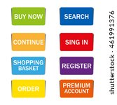 web shopping color buttons with ... | Shutterstock .eps vector #461991376