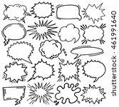 cartoon comic speech bubble... | Shutterstock .eps vector #461991640