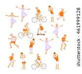 healthy active lifestyle... | Shutterstock .eps vector #461999128