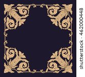 premium gold vintage baroque... | Shutterstock .eps vector #462000448